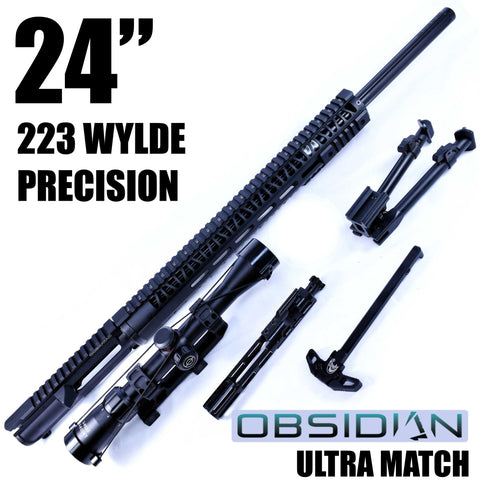 UPPER BUILDS-24 OBSIDIAN ULTRA MATCH PRECISION UPPER | 1:9 | SCOUT 16 | 5.56 WYLDE STRAIGHT FLUTED |-Cobratac SKU