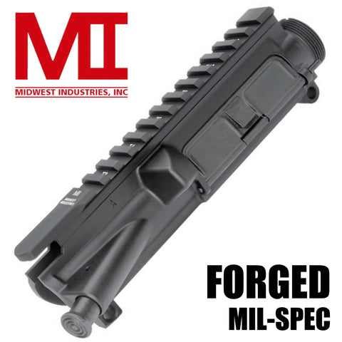 Upper Receiver-Midwest Industries Forged Upper Mil-Spec - Black Complete-Cobratac SKU 816537012481