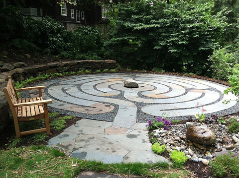 Chelsea Labyrinth Design - Garden Template - Flagstones & Gravel - Maryland Home