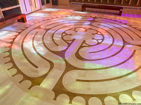LouisvilleKY-NortonCancerCtr-18'diameter-Chelsea-a-la-Chartres-Labyrinth-Maple-Cherry-chapel
