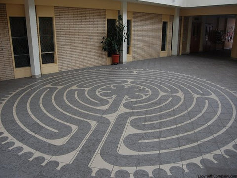 PennYanNY-StPaulLutheran-CeramicTiles-VisionQuest-a-la-Chartres-labyrinth