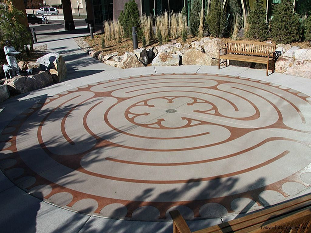 Image of the labyrinth at the Avera Cancer Institute of Sioux Falls SD