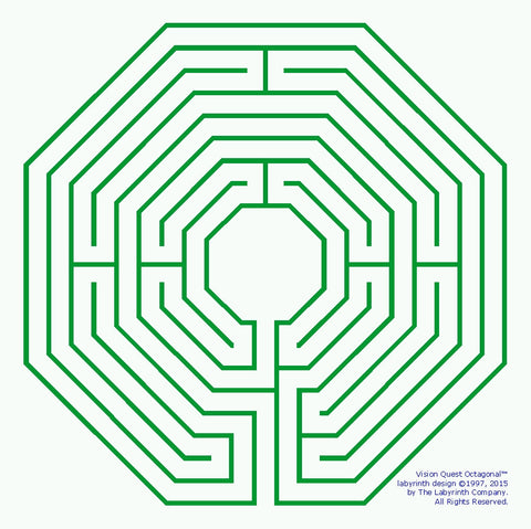 Visionquest Octagonal Design Large Garden Templates Labyrinth Company