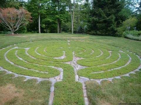 Double Spiral™ - The Labyrinth Company on easy prayer labyrinth designs, simple labyrinth design, outdoor labyrinth design,