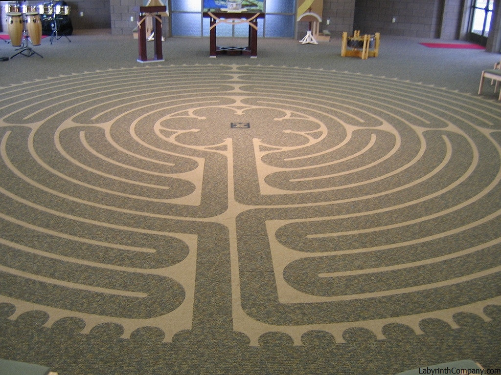 Carpet floor tile kits the labyrinth company waverlyia lutheranchildrenshomechapel 35diameter chartresreplicalabyrinth carpet tiles dailygadgetfo Images