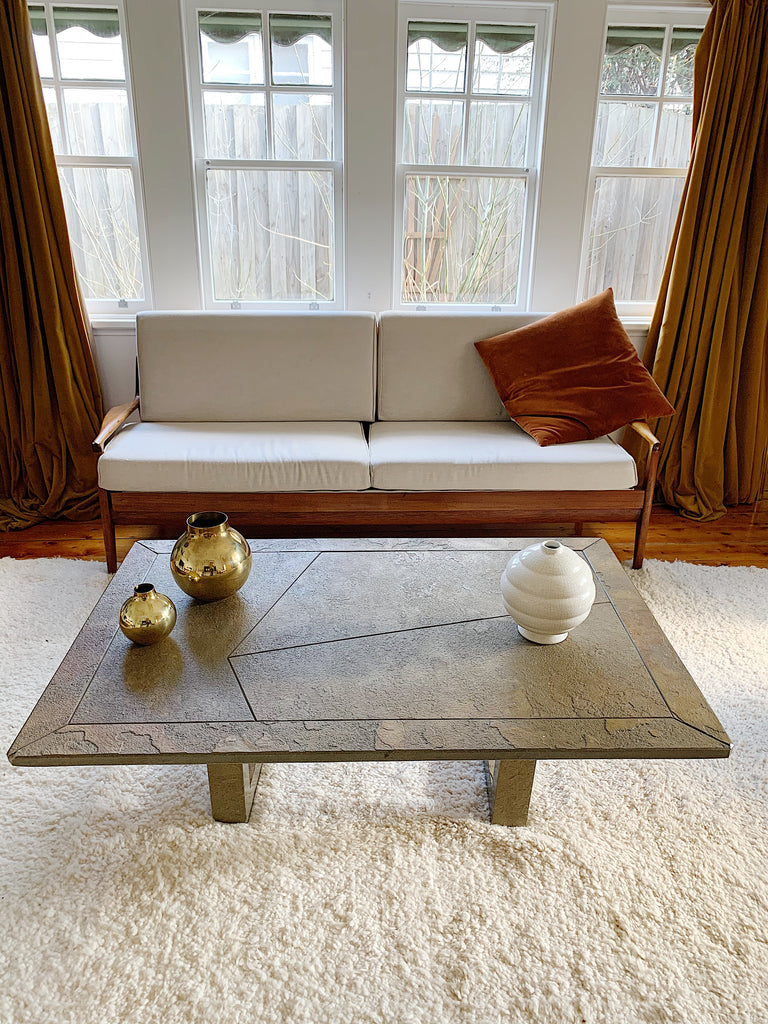 Solid Slate coffee table