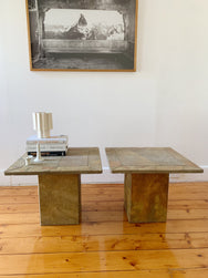 Solid Slate side tables