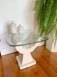 Vintage Fossil Stone Side Table