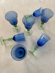 Set of Vintage Wine Glasses