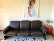 Vintage Leather Three Seater Sofa