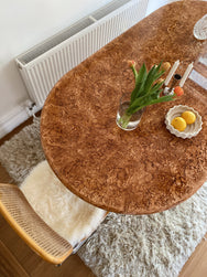 Vintage Oval Extendable Dining Table