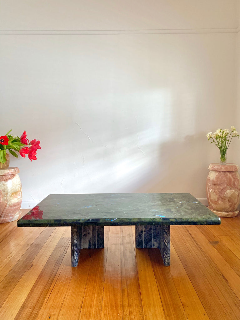 Labradorite Crystal Coffee Table