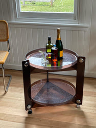 Midcentury drinks trolley by Luigi Massoni for Guzzini