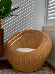 Cane egg chair