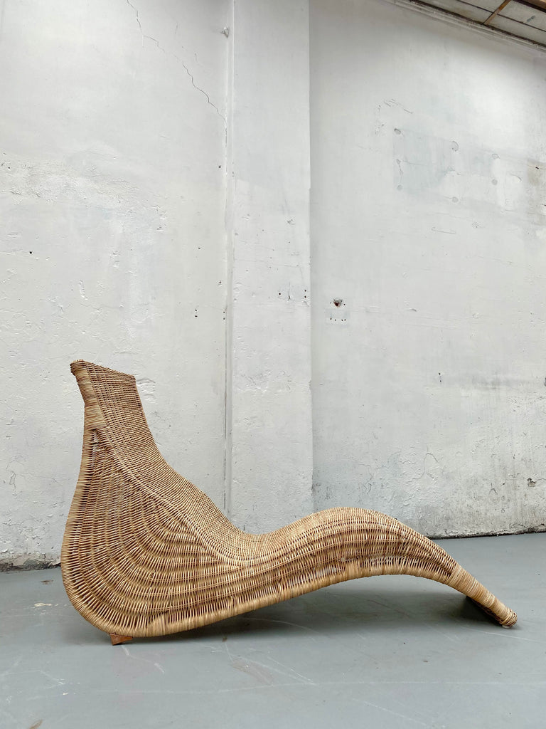Vintage Cane Lounge Chair