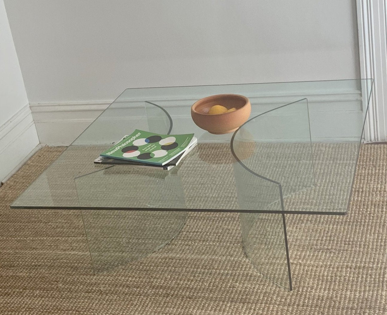 Curved Glass Coffee Table Curated Spaces [ 1055 x 1294 Pixel ]