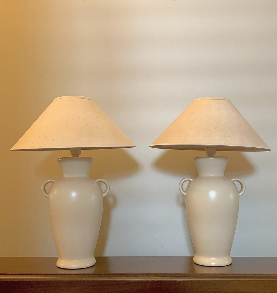 Creamy Vintage Urn Lamp - One Remaining