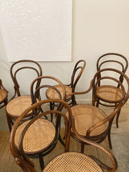 Set of 8 Bentwood Chairs