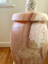 Pink Onyx Plinth / Side Table