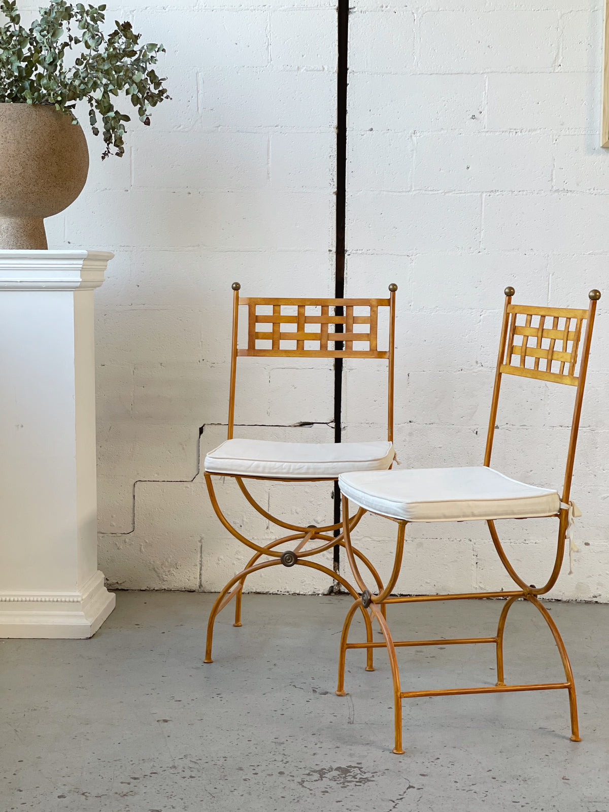 French Wrought Iron Dining Chair - Price is Per Chair