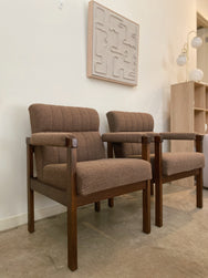 Brown Retro Armchairs