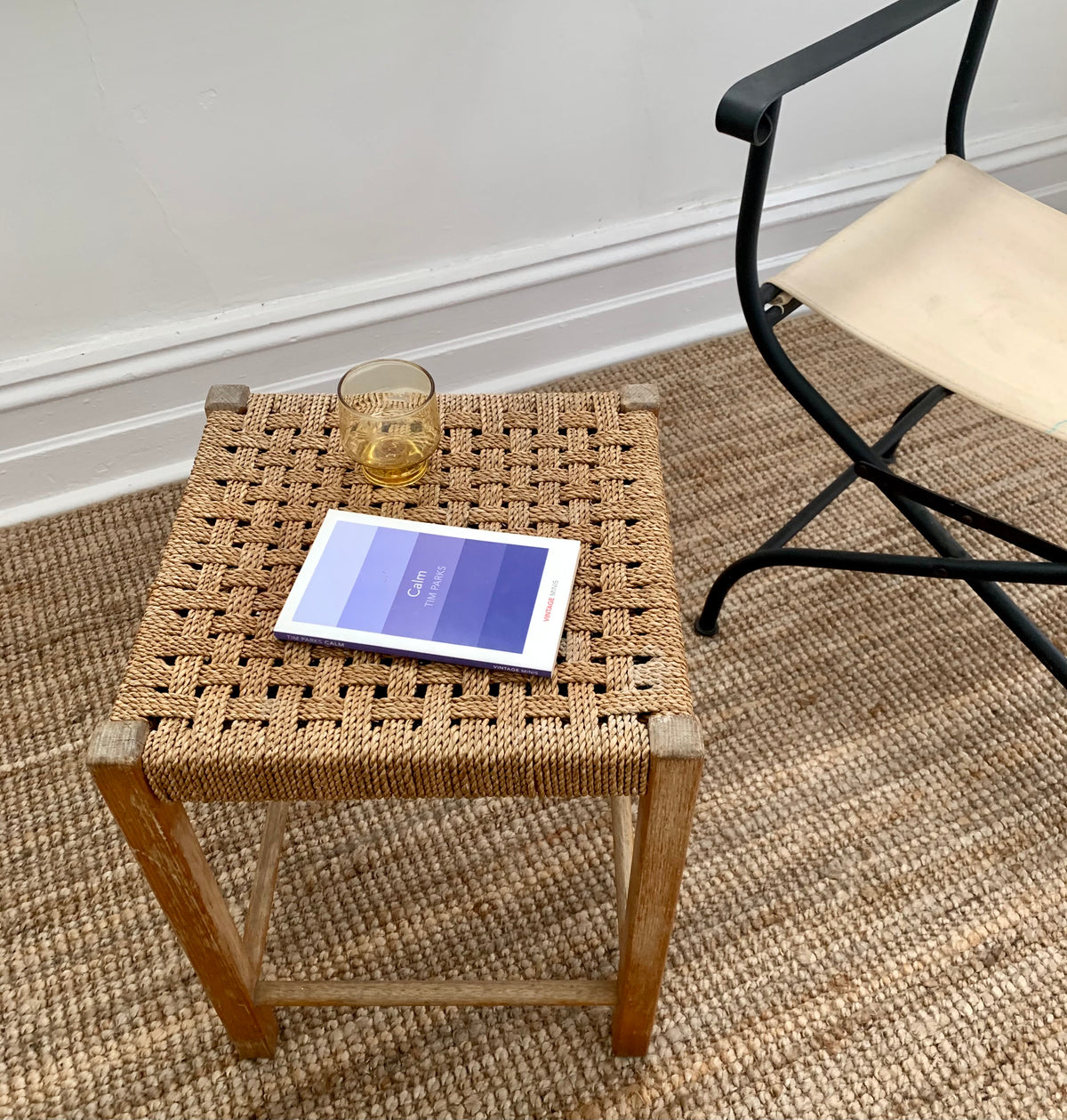 Woven Timber Side Table