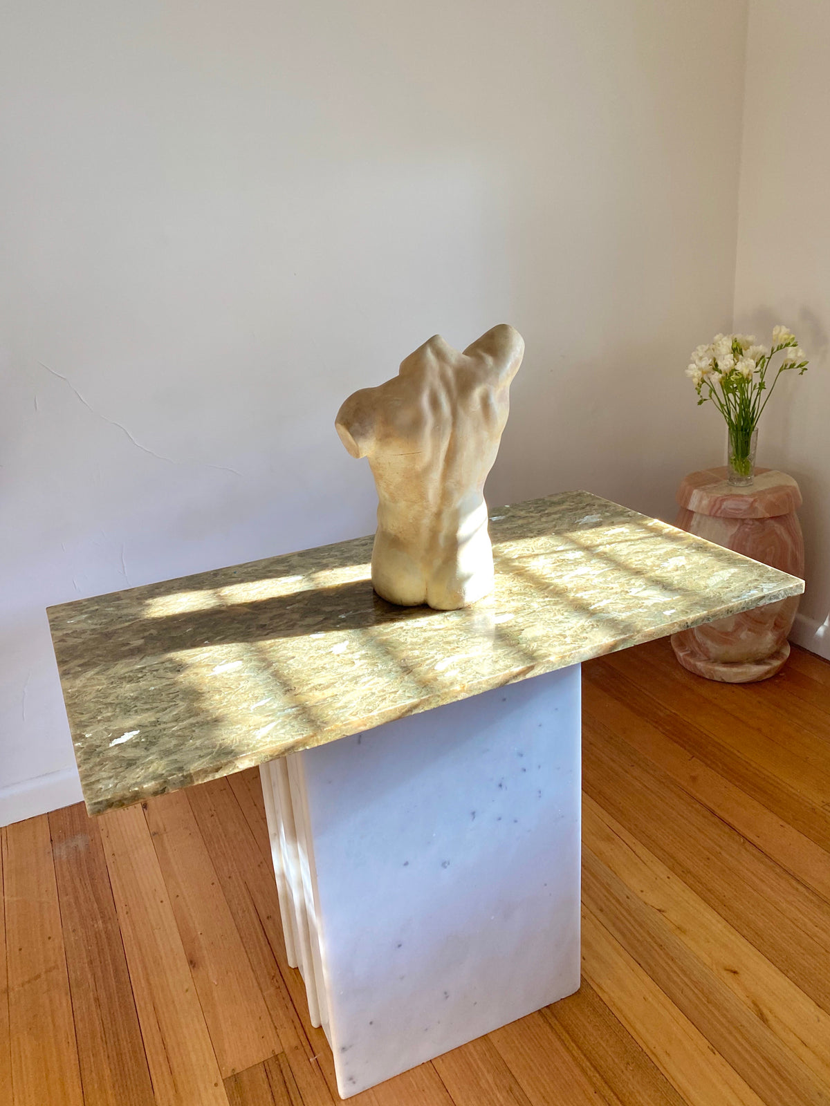 Green Marble Hall Table