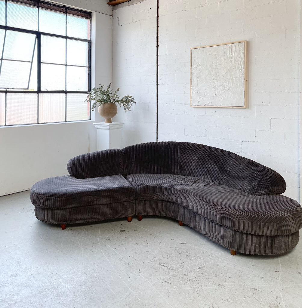 Corduroy Curved Lounge