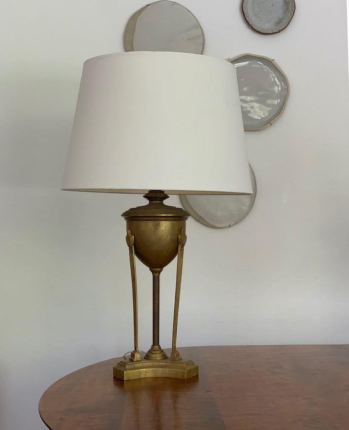 Pair of Vintage Solid Brass Italian Made Lamps