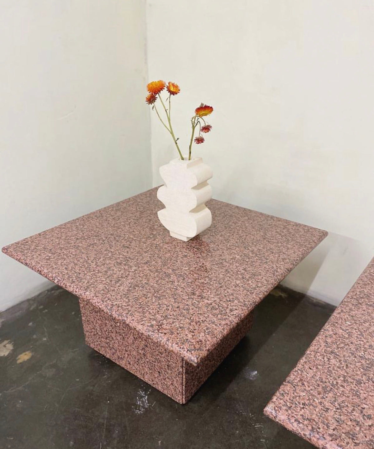 Pink Granite Side Table