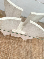 Travertine Hall Console
