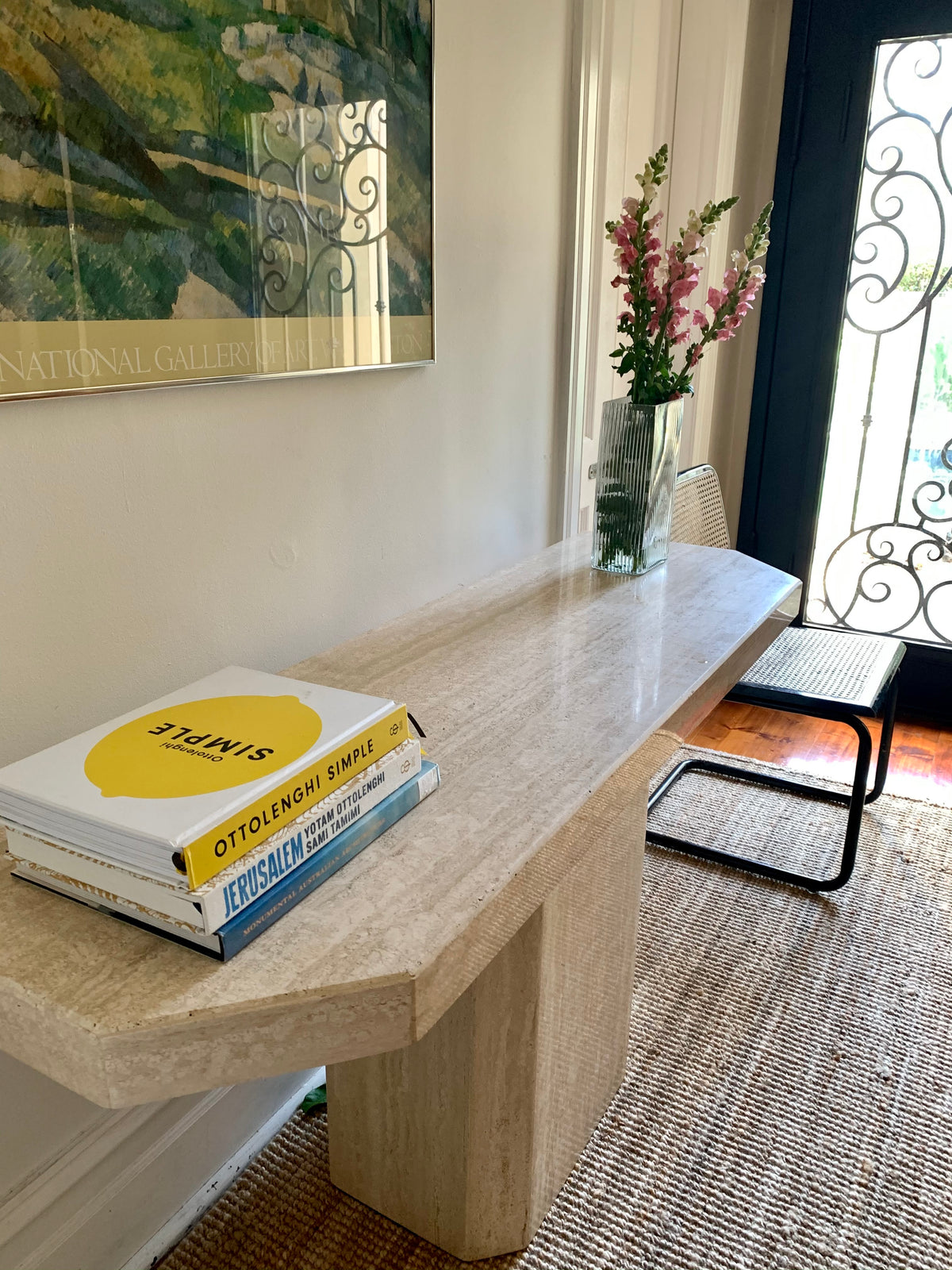 Travertine Console / Hall Table
