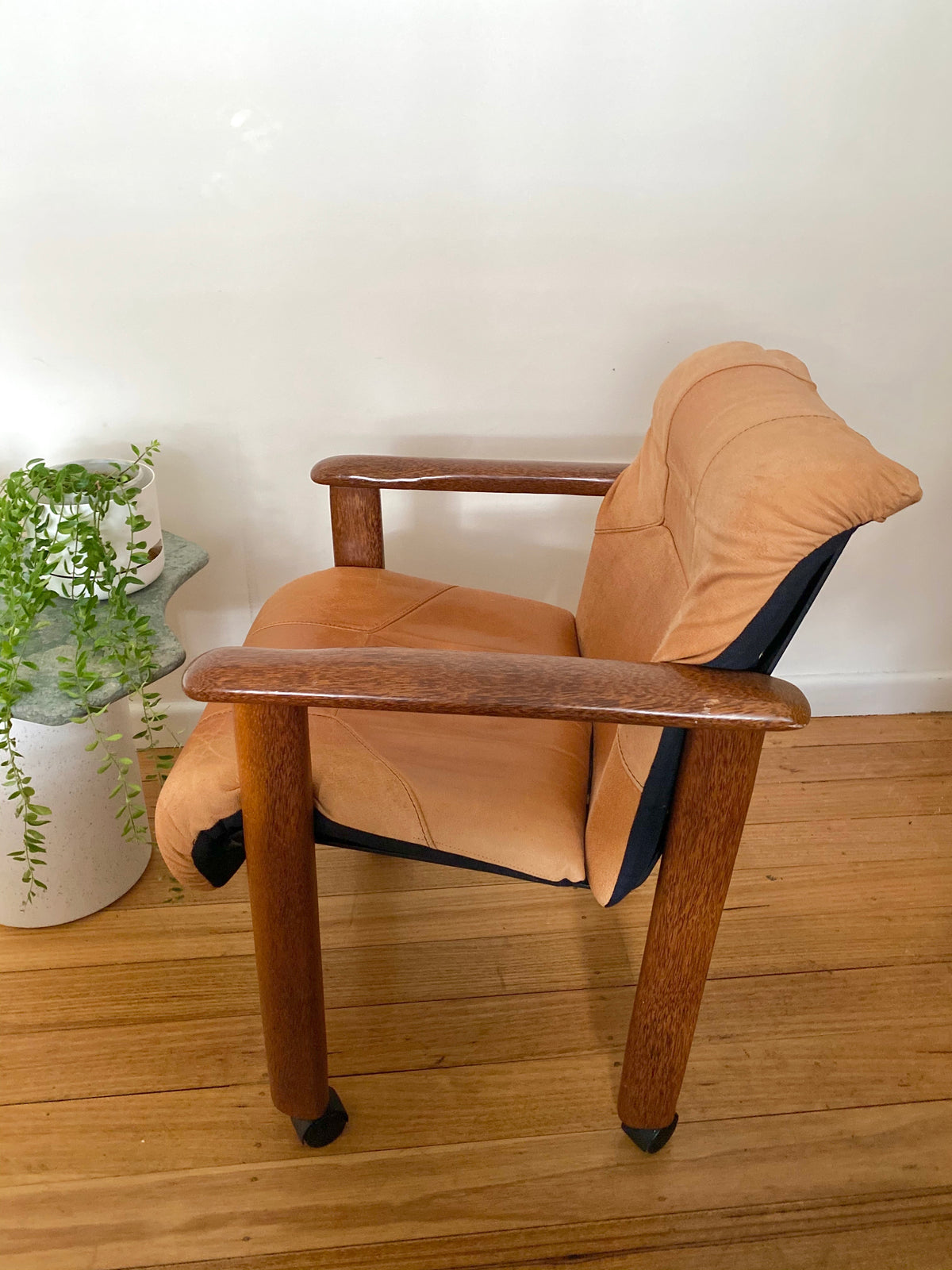 Vintage Tan Leather Chair