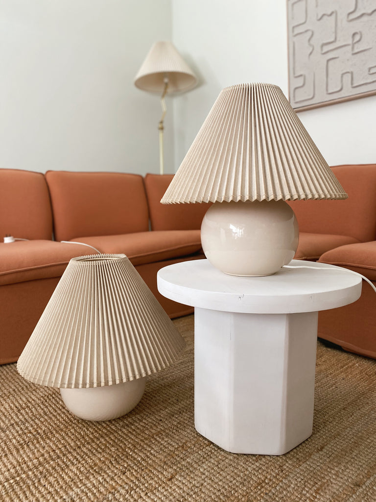 Vintage Pleated Lamps