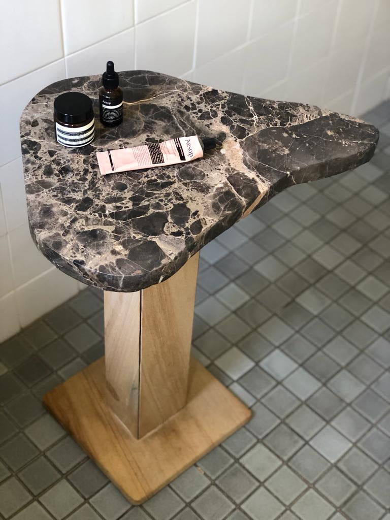 Marble  and Sandstone Side Table