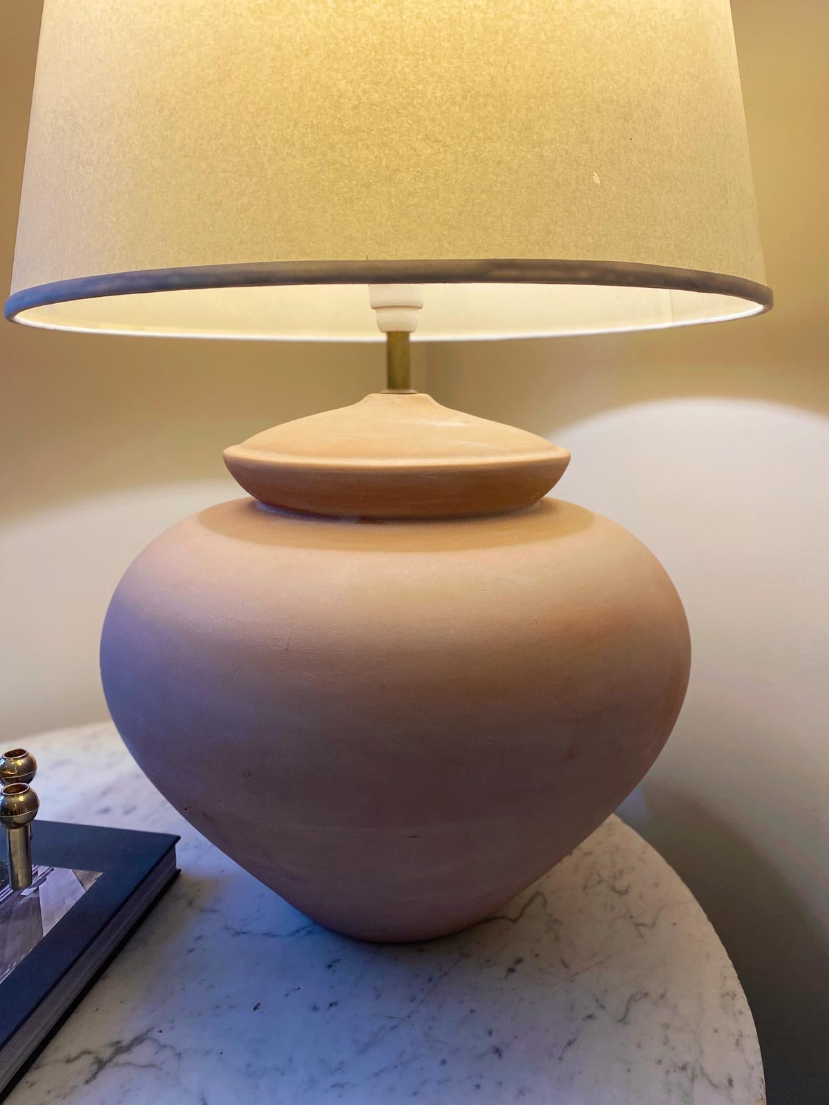 Large Terracotta Lamp