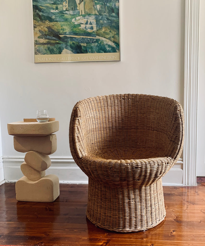 Vintage Cane Tub Chair