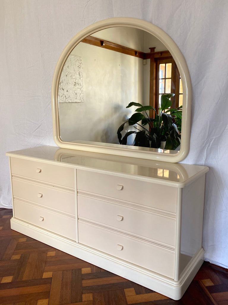 Lacquered Dresser and Mirror Set by Berryman