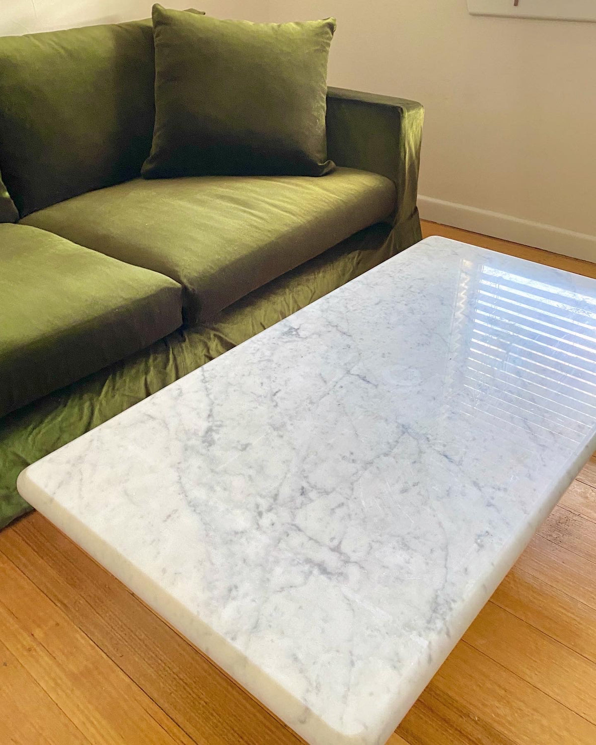 Bespoke White Marble Coffee Table