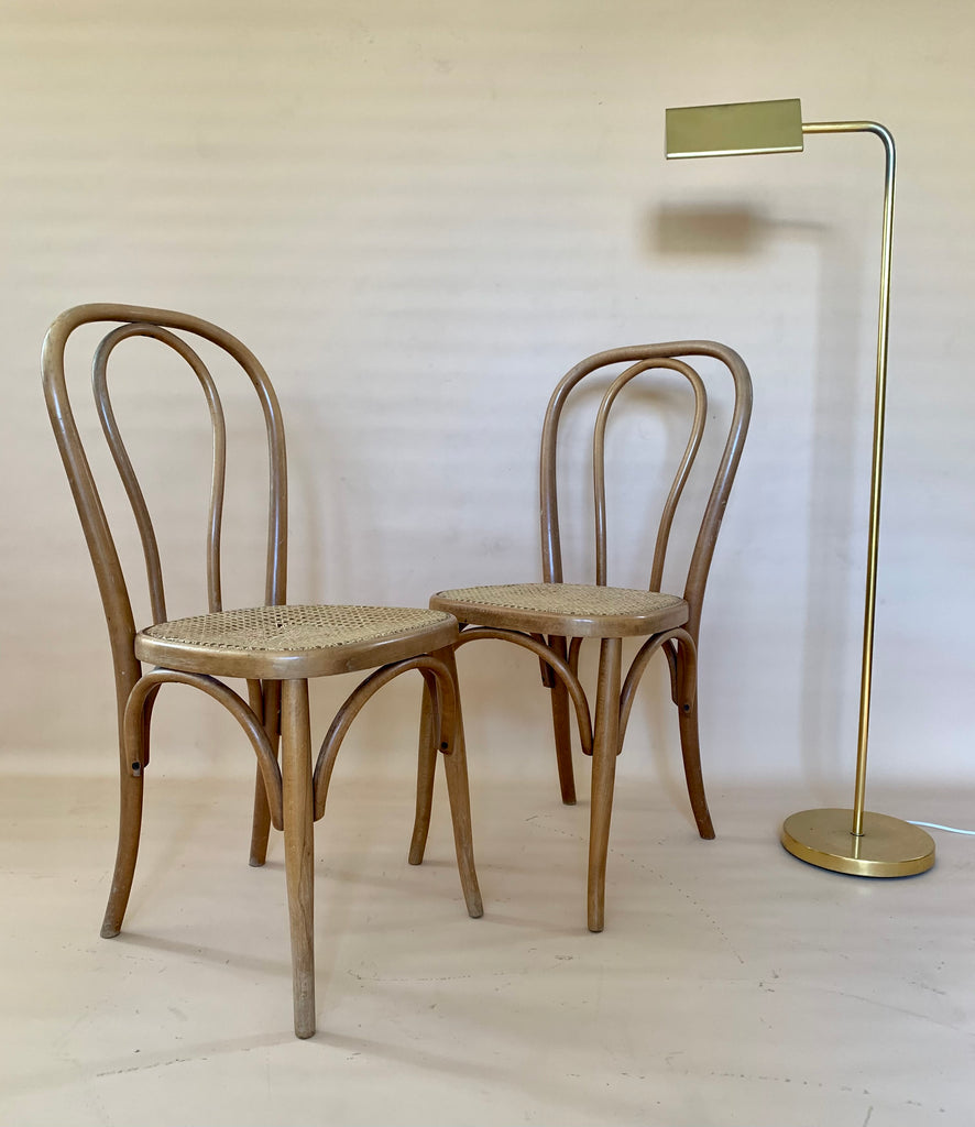 Bentwood Rattan Dining Chair - Two Available