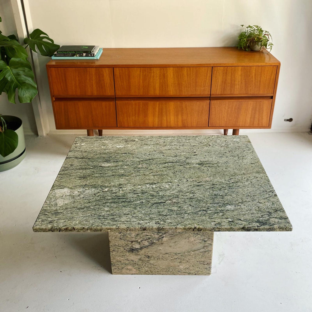 Sage Green Granite Coffee Table