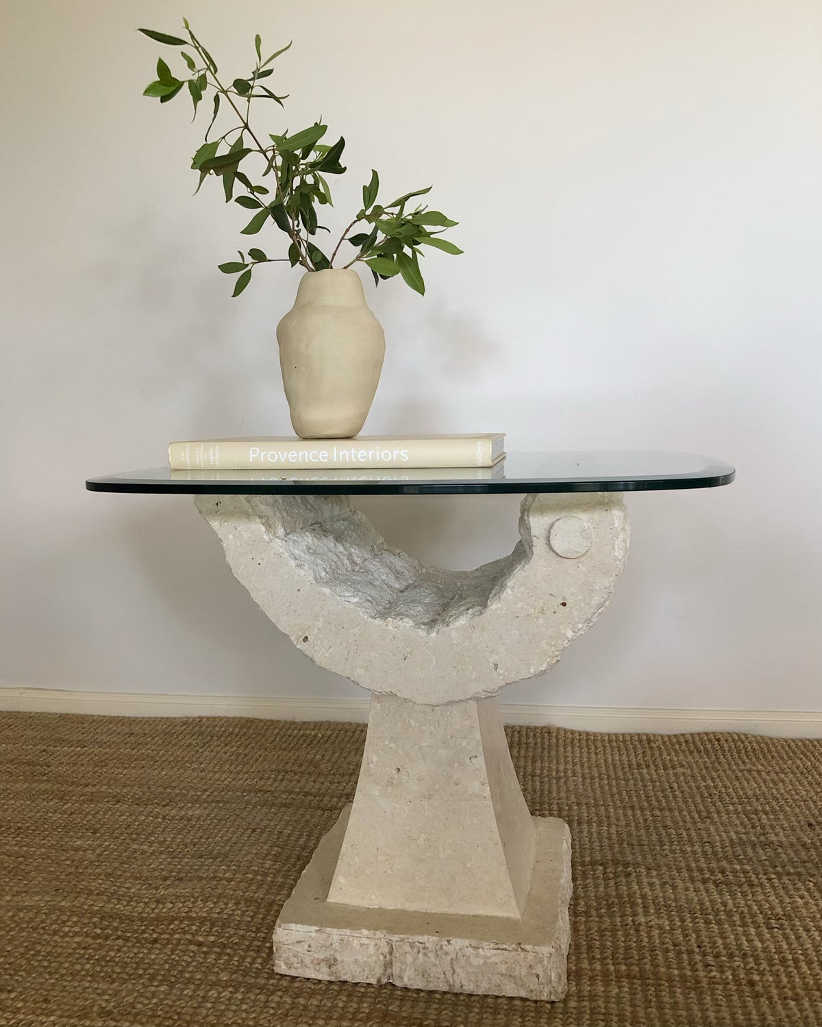 Fossil Stone Side Table