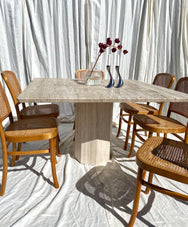 Unfilled Travertine Dining Table