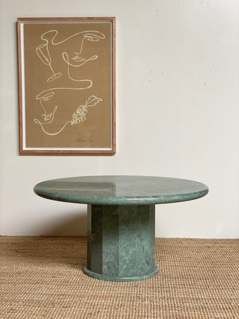Round Green Marble Coffee Table