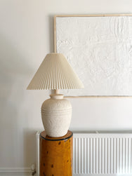 Large Fossil Stone Pleated Lamp