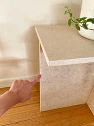 Travertine Tiered Side Tables