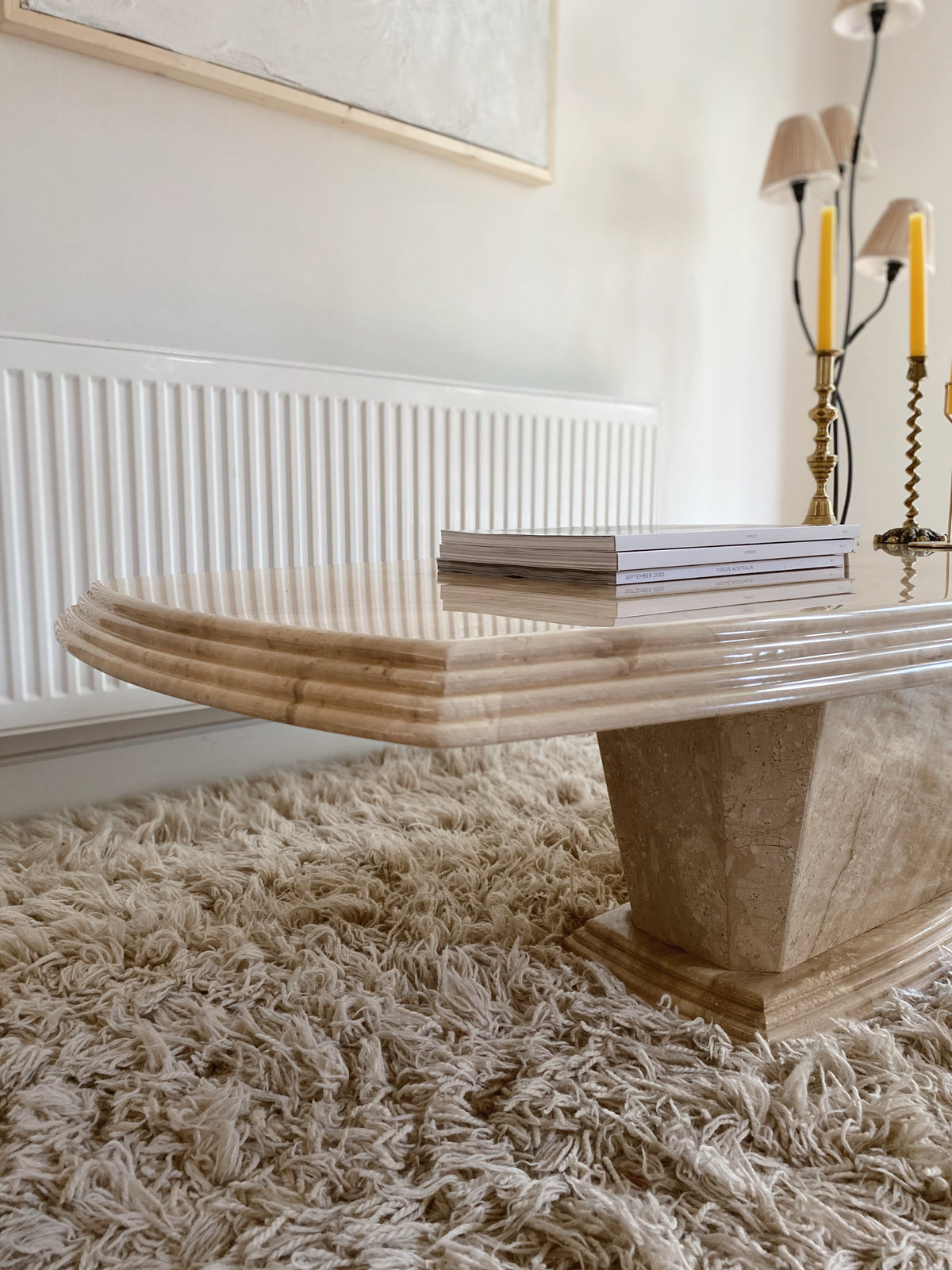 Marble Coffee Table with Bevelled Edge