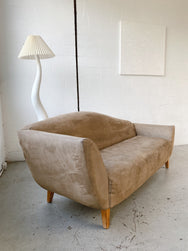 Brown Lounge with Curved Back