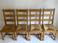 Ladderback Chairs with Rush Seats (Set of Four)