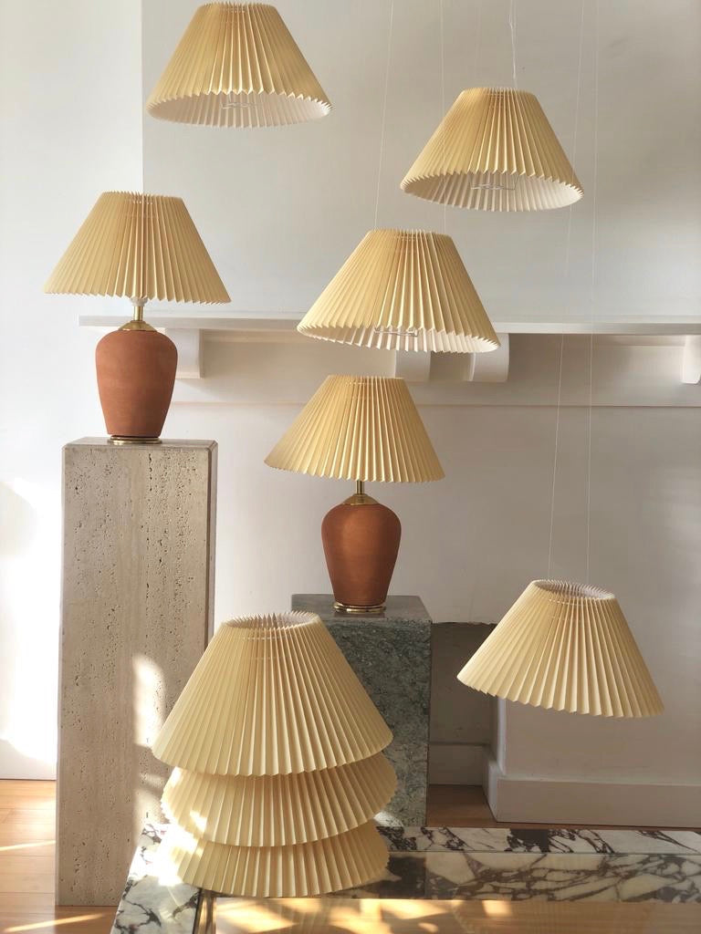 Pleated Italian lamp shades